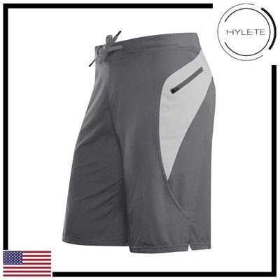 ►瘋狂金剛◄ 冷灰 HYLETE Verge II Flex-Woven Zip Pocket 抗菌 快速排汗 短褲