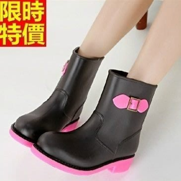中筒雨靴子 雨具-韓版簡約糖果色撞色女雨鞋子3色66ak44[獨家進口][米蘭精品]