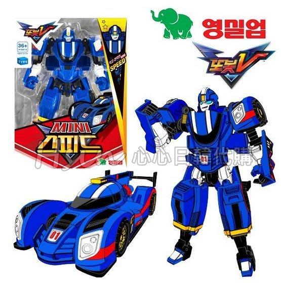 超取/台北自取【Hsin】🇰🇷韓國代購正版機器戰士Tobot V 迷你 藍色賽車SPEED 變形機器人