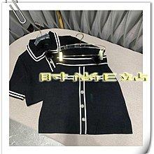 高端版【~SSEZ~】908033069 原單MAJ撞色珍珠扣羊毛短袖針織衫+半裙套裝 1 2 3