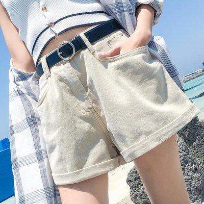 牛仔短褲 牛仔短褲女夏季2020新款高腰寬鬆卷邊顯瘦網紅a字外穿闊腿熱褲潮