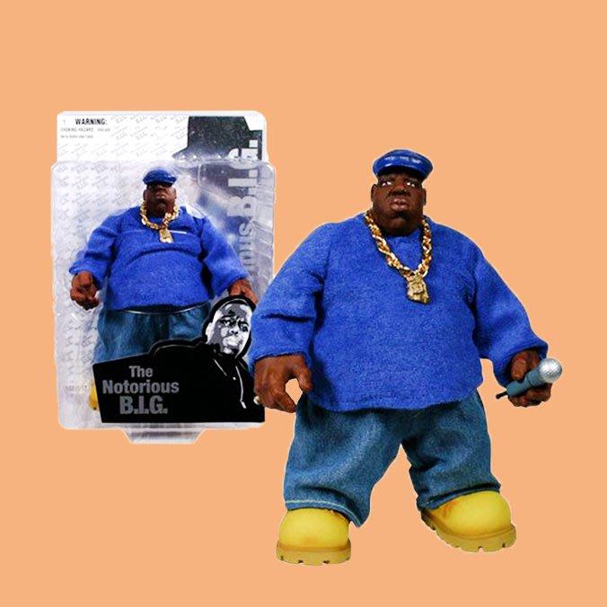 JCI:Vintage 絕版 Notorious B.I.G. Action Figure 絨布正裝款公仔 東岸嘻哈