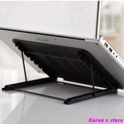【K x S】筆記本電腦支架 可折疊收納放手提電腦包 平板電腦六檔支架托架