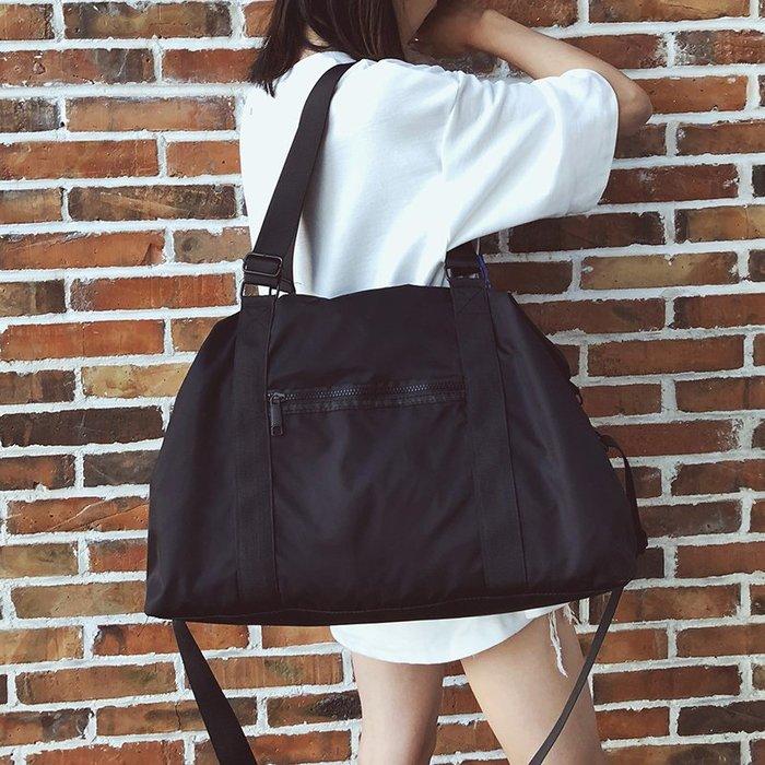 短途行李包女手提韓版簡約大容量旅行包男出差旅游輕便防水健身包