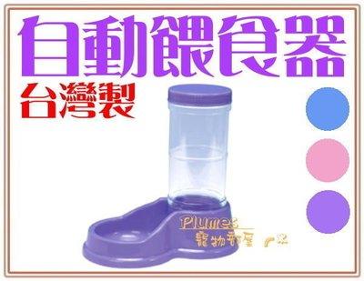 【Plumes寵物部屋】台灣製-皇冠《寵物玲瓏餵食器》防滑止滑飼料自動餵食器900ml-犬貓適用