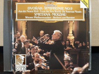 Karajan,Dvorak&Smetana-Sym No.9&Moldau etc,卡拉揚,德佛扎克&史麥塔納-交響曲第九號&莫道爾河等,如新。