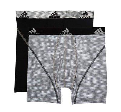 Adidas 運動內褲 機能 吸濕排汗 2件裝 黑色/白色 ClimaLite 28~30腰 32~34腰 36~38腰