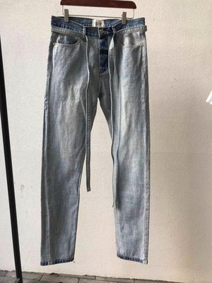 FEAR OF GOD FOG 第六季反洗做舊泛白抽繩外標藍色牛仔褲