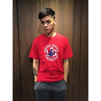 【全新真品】 The North FaceT恤 TNF 短袖 T-shirt 北臉 logo 紅色 E841