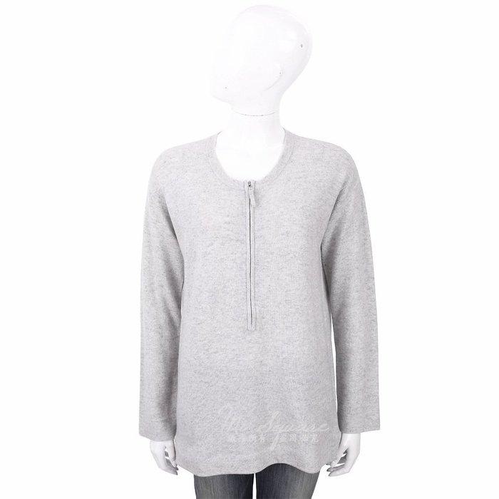 米蘭廣場 ALLUDE 喀什米爾衫灰色拉鍊細節針織羊毛衫 1740250-06