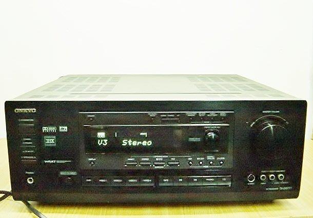 保固3個月【小劉2手家電】ONKYO FM擴大機,TX-DS777型,有AB組喇叭,壞機可修理/回收!