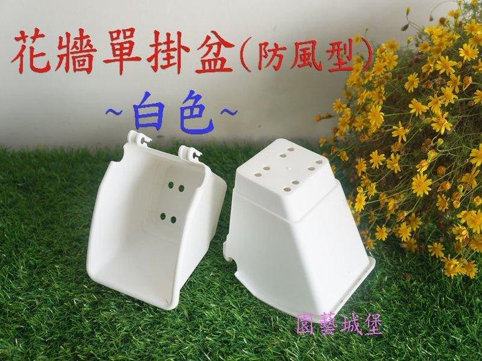 【園藝城堡】花牆單掛盆(植生牆)防風型-白色