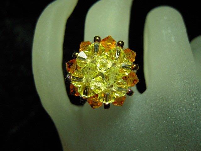 ※水晶玫瑰※ SWAROVSKI 水晶戒指~(HAND54)