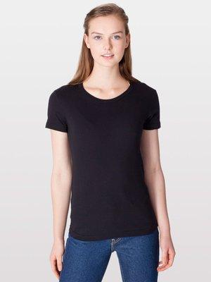 【OhOh】美國 American Apparel 2102 黑色圓領素色純棉T恤