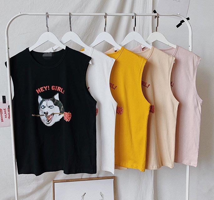 FINDSENSE H1 2018 夏季 新款 男 個性 趣味 動物印花 情侶 無袖 寬鬆 運動背心 馬甲 潮上衣