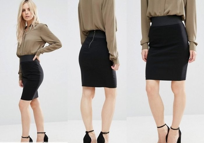 ◎美國代買◎ASOS彈性寛版腰封搭配彈性筆型窄裙經典百搭款顯廋好曲線高腰筆型窄裙~歐美街風~大尺碼
