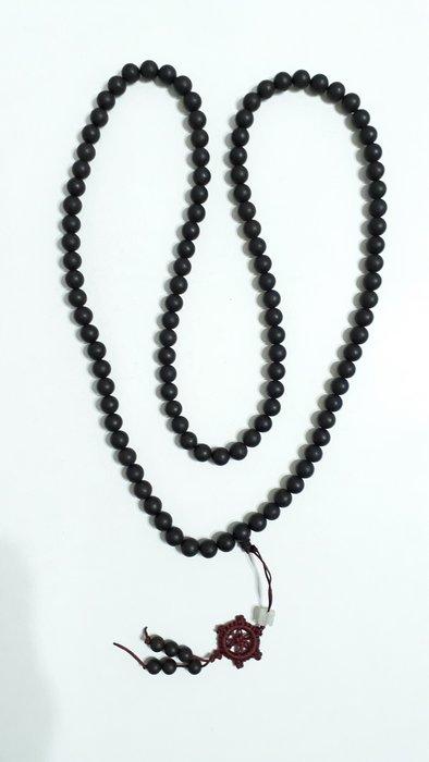 【九龍藝品】土沉108顆佛珠 ~ 手珠約10mm.重量約81公克【1】競標