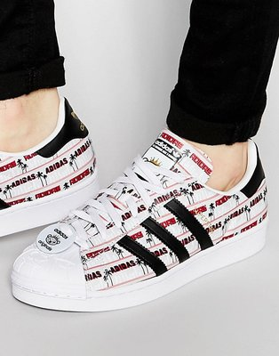 adidas 愛迪達 Superstar Nigo Bearfoot 紅白 小熊金標 貝殼鞋 S75556 23.5cm