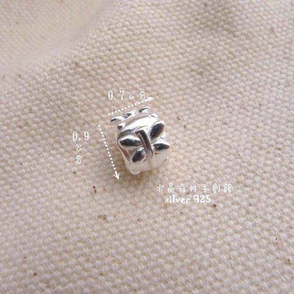*☆~水晶森林~*☆diy材料925純銀串珠手鍊 配件 立體管狀蜻蜓純銀墜子 蠶絲蠟線材料必備 素材