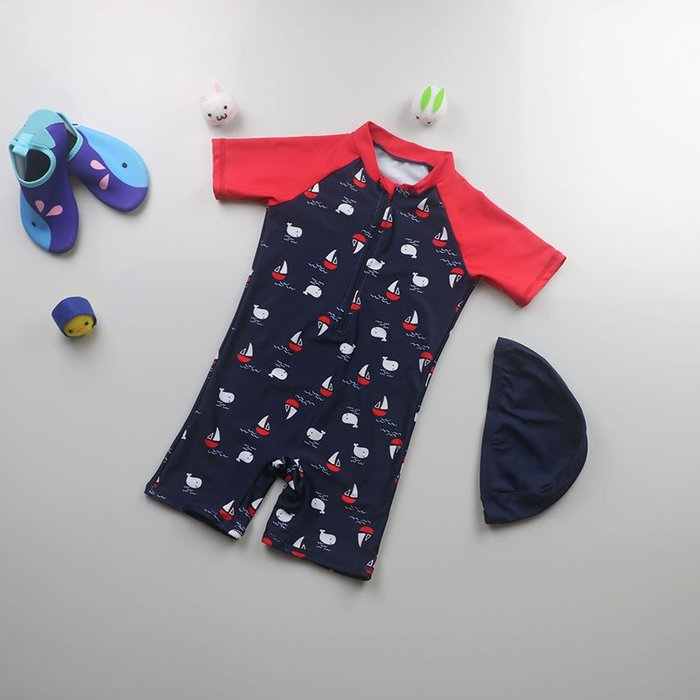 [泳漫]2003泳衣兒童泳衣泳褲潛水衣連身泳衣生男生嬰幼兒童泳衣男孩男童小中大童防曬速干沖浪服海邊沙灘溫泉游泳8