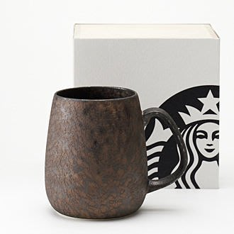 Starbucks 日本 R系列-香氣BODY炭彩馬克杯 400ml+AROMA 炭彩馬克杯 300ml  附木盒紙袋