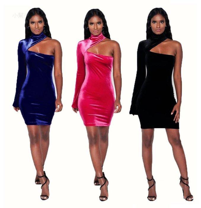 大碼碼歐碼單肩性感時尚連體裙爆#優品小鋪#