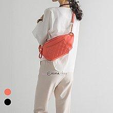 EmmaShop艾購物-正韓菱格鏈條腰包肩背包/後背包/復古