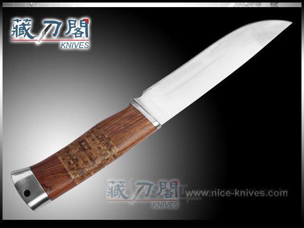 《藏刀閣》FB1123 非洲雞翅木直刀
