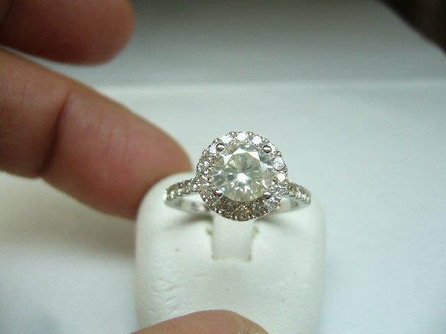 [吉宏精品交流中心]1.01克拉 南非天然鑽石 白K金 造型 戒指