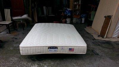 【安鑫】~5尺標準雙人【5X6.2尺】緹花布獨立筒床墊 彈簧床墊~回收二手家具!【A748】
