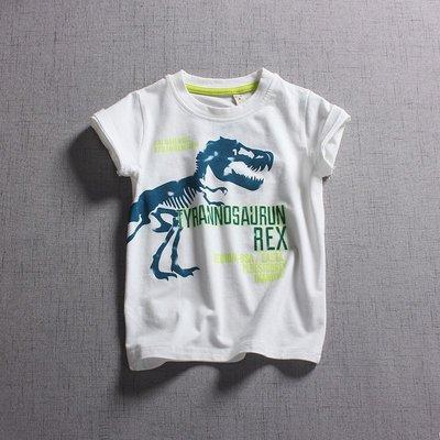 【Mr. Soar】 F362 夏季新款 歐美style童裝男童恐龍印花短袖T恤 現貨