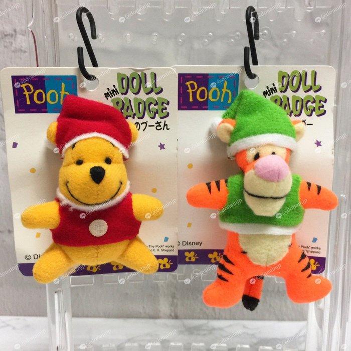 【Dona日貨】日本正版 迪士尼小熊維尼與跳跳虎聖誕老公公 立體別針/胸針 C32