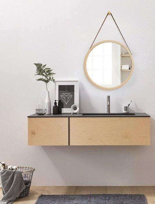 【Uluru】北歐 設計師 Loft 工業風 早午餐 餐廳 咖啡廳 廁所 化妝 吊繩 可調式 掛鏡 吊鏡 穿衣 鏡 鏡子