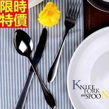 西式餐具組含刀叉餐具-不鏽鋼牛排刀子叉子勺湯匙時尚球尾3件套西餐具套組68f19[德國進口][巴黎精品]
