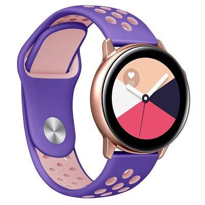 三星Samsung Galaxy Wat新品ch Active2手表帶防水洞洞透氣硅膠腕表帶運動風