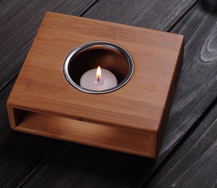 【古韻之家】玻璃花茶壺加熱底座 花茶茶具竹制蠟燭溫茶爐 暖杯器 保溫器煮茶器