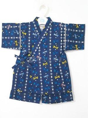 ✪胖達屋日貨✪褲款 90cm 海軍藍底直紋蜻蜓 日本 男寶寶男童日式和服浴衣兒童甚平 COSPLAY表演