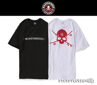 【 現貨 】全新正品 2013 限量聯名 Stussy X Mastermind JAPAN MMJ Skate & Skull Tee 黑白 S M L XL XXL