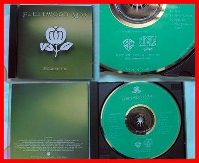 ◎1988年?日本版-佛利伍麥克-名曲精選輯-Fleetwood Mac-Greatest Hits-等17首好歌-CD