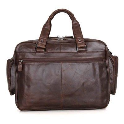 手提 包 真皮公事包-純色牛皮16吋經典男包包73ur11[獨家進口][米蘭精品]