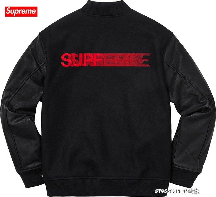 【超搶手】全新正品2018 FW Supreme Motion Logo Varsity Jacket 飄移 棒球外套
