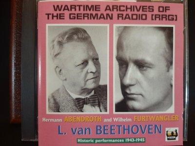Abendroth,Furtwangler,Beethoven:Sym No.6Pastorale,No.5,阿本德羅斯,福特萬格勒,貝多芬:交響曲6&5號