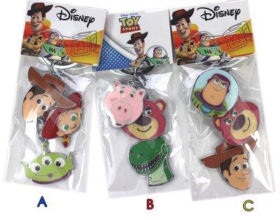 【卡漫迷】 玩具總動員 大臉串飾 金屬 鑰匙圈 二選一 ㊣版 吊飾 包包掛飾 掛環 Toys Story Buzz