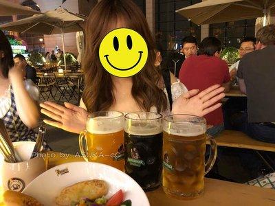 聚吉小屋 #加厚啤酒杯超大容量玻璃杯帶把大號英雄杯酒吧大扎啤杯1000毫升ml