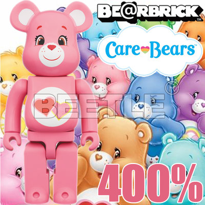 BEETLE BE@RBRICK CARE BEARS LOVE-A-LOT BEAR 愛心熊 彩虹熊 粉 400%