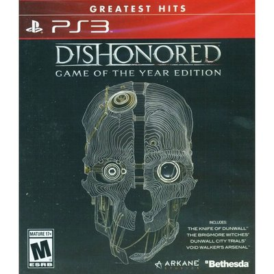 (現貨全新) PS3 冤罪殺機 年度完整版 英文美版 DISHONORED GAME OF THE YEAR EDITI