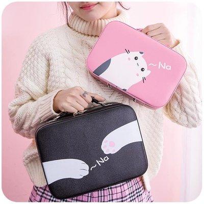 化妝包  化妝包小號便攜韓國簡約可愛少女心大容量多功能品包收納盒箱手提