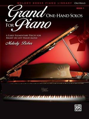 【599免運費】Grand One-Hand Solos for Piano, 1  Alfred 00-39100