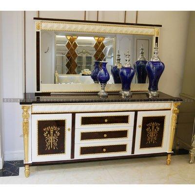 [紅蘋果傢俱] CT-035凡賽斯宮廷系列 餐邊櫃 斗櫃 收納櫃 新古典 歐式 高檔 玄關櫃