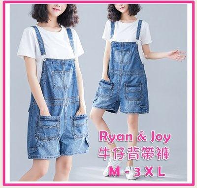 M-3XL 女牛仔背帶褲 女牛仔吊帶短褲 女牛仔連體褲 女牛仔短褲 女背帶短褲 42156